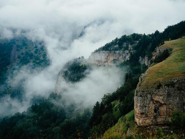 Paisagem montanhas, natureza, ar puro, pinheiros, província