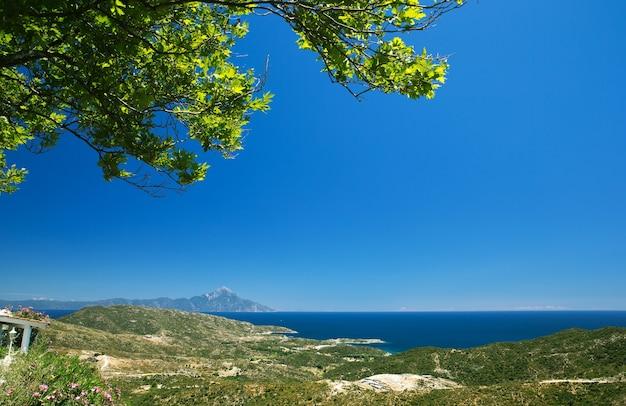 Paisagem montanhosa na grécia