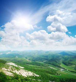 Paisagem na montanha