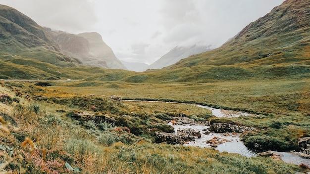 Paisagem natural das terras altas da escócia