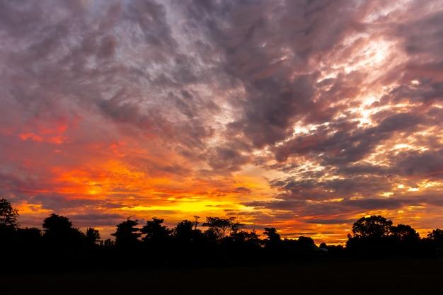 Paisagem no nascer do sol