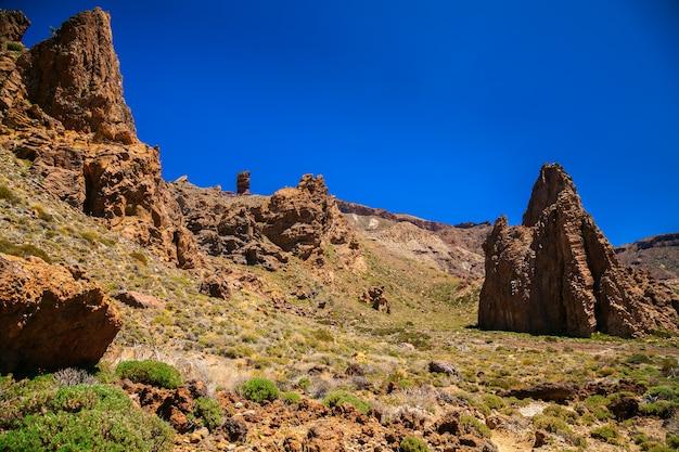 Paisagem no parque nacional de teide, tenerife, ilhas canárias, espanha