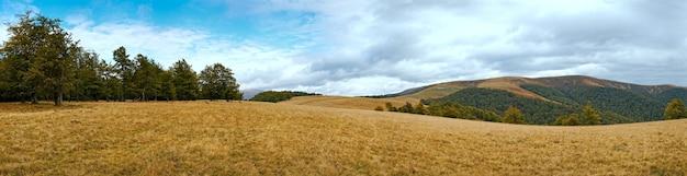 Paisagem nublada de outono das montanhas dos cárpatos (ucrânia).