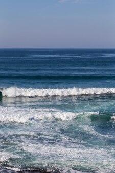Paisagem pôr do sol costa atlântica