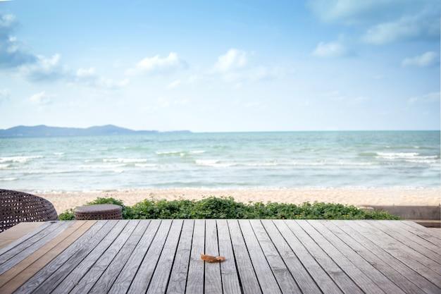 Paisagem relaxante no resort com assento ao ar livre