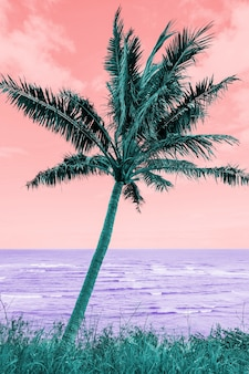 Paisagem retrô colorida em estilo vaporwave