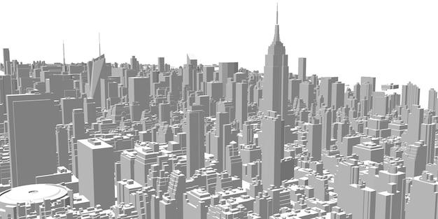Paisagem urbana arranha-céus edifícios altos arquitetura panorama vida na cidade