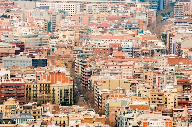 Paisagem urbana congestionada