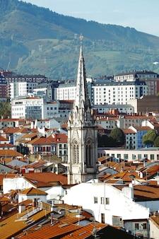 Paisagem urbana da cidade de bilbao, espanha, destino de viagem de bilbao
