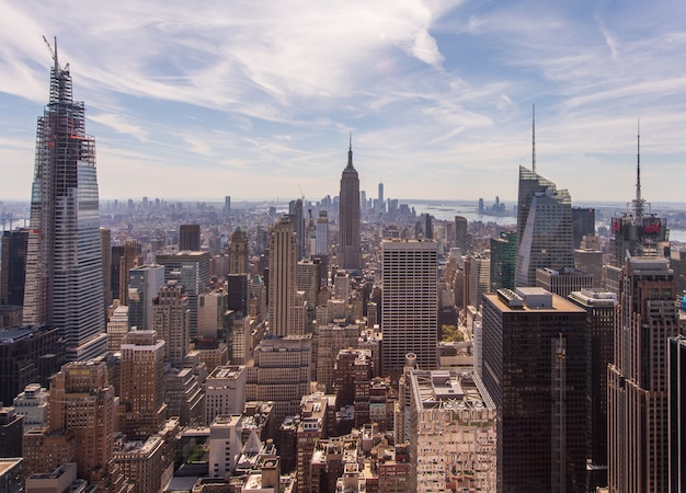 Paisagem urbana da cidade de nova york