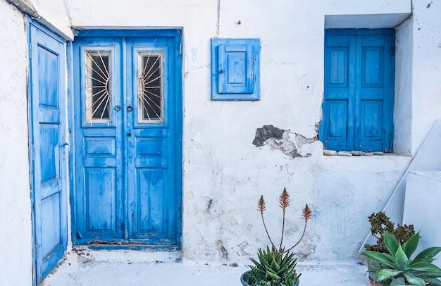 Paisagem urbana da ilha mykonos