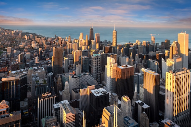 Paisagem urbana de chicago na américa