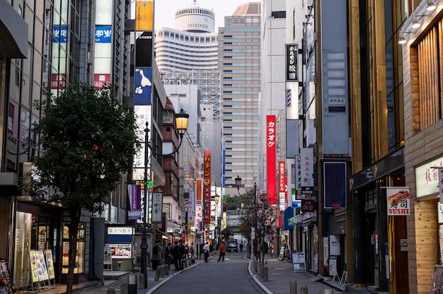Paisagem urbana de cidade asiática