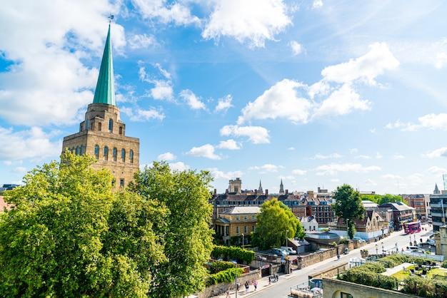 Paisagem urbana de oxford no reino unido