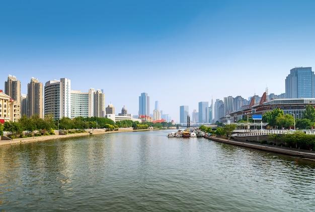 Paisagem urbana de tianjin, china