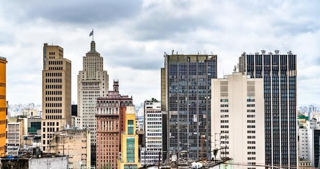 Paisagem urbana do centro de san paulo, no brasil