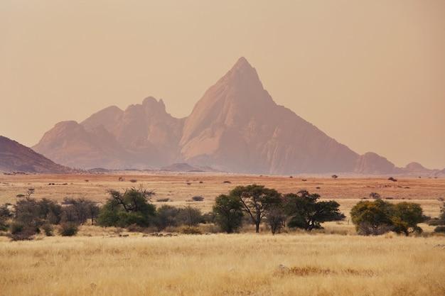 Paisagens desertas na namíbia