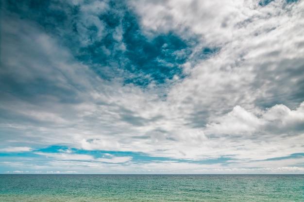 Paisagens do mar negro, ampla visão da costa da crimeia