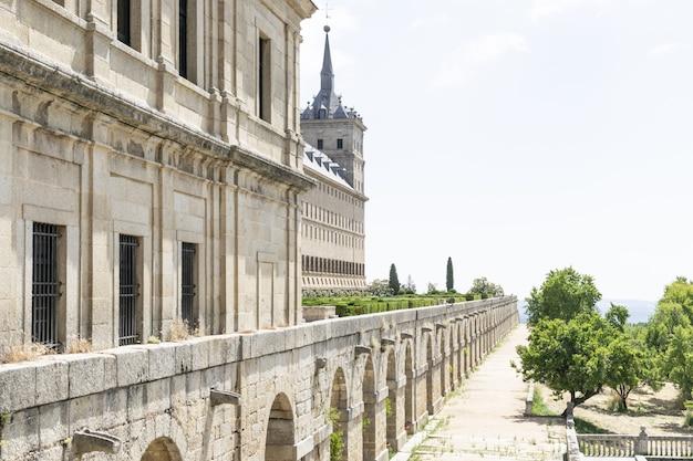 Paisagens históricas no mosteiro el escorial madri, espanha