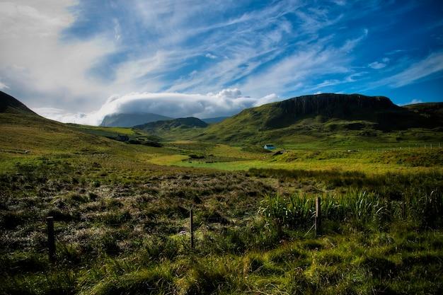 Paisagens montanhosas das terras altas da escócia