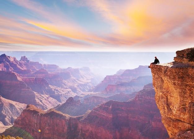 Paisagens pitorescas do grand canyon, arizona, eua. natural bonito.