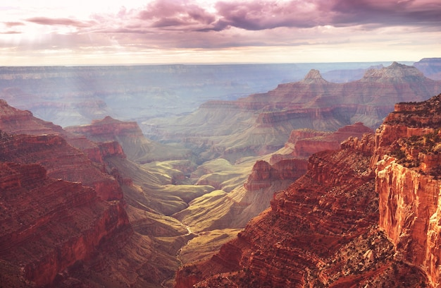 Paisagens pitorescas do grand canyon, arizona, eua.
