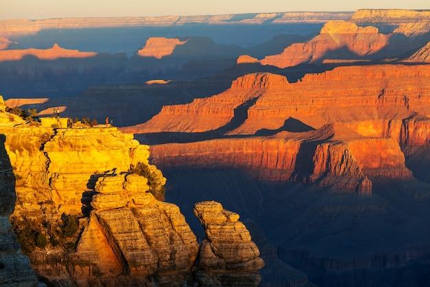 Paisagens pitorescas do grand canyon