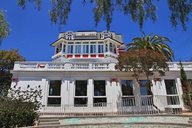 Palácio baburizza em marco de valparaíso, chile