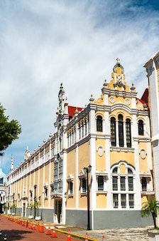 Palacio bolivar em casco viejo, o distrito histórico da cidade do panamá na américa central