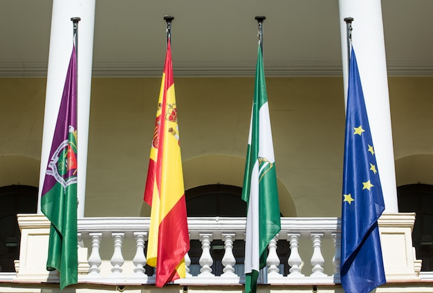 Palácio da câmara municipal em málaga, espanha