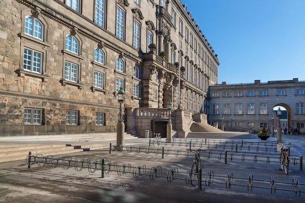 Palácio de christiansborg edifício do parlamento dinamarquês copenhague dinamarca