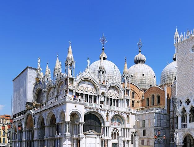 Palácio ducal e catedral de san marco, veneza, itália