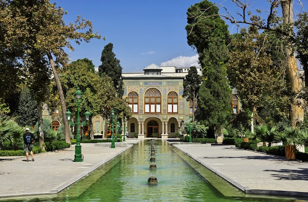 Palácio golestan na cidade de teerã, irã