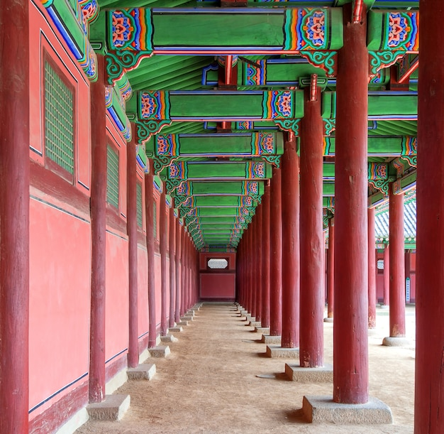 Palácio gyeongbokgung na coreia do sul.
