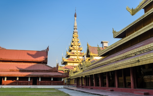 Palácio real de mandalay, mianmar