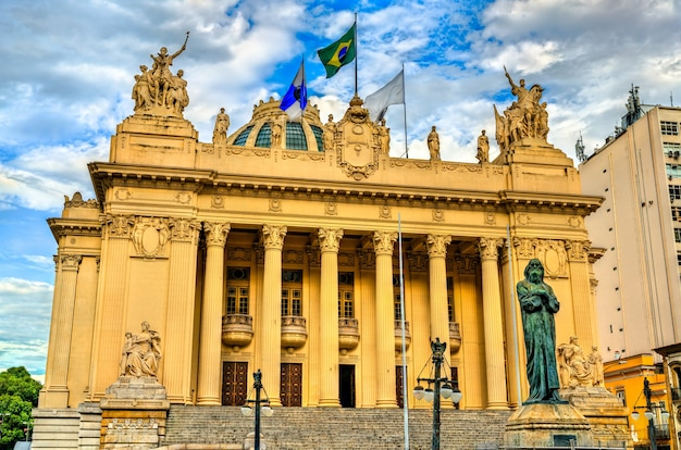Palácio tiradentes com sede da assembleia legislativa do rio de janeiro no brasil