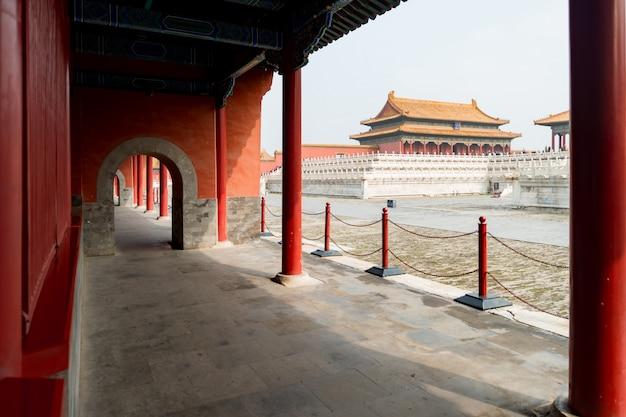 Palácios reais antigos de beijing da cidade proibida em beijing, china.