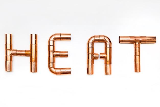 Palavra de cachimbo de cobre calor