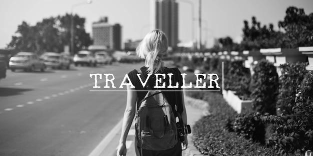 Palavra de exploração de viagem de viagem de aventura