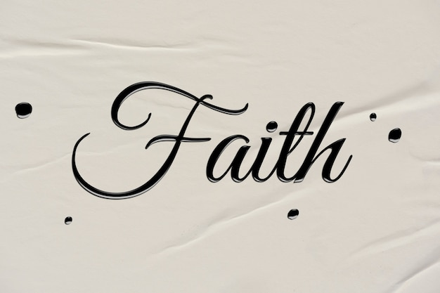 Palavra de fé em estilo de caligrafia de tinta