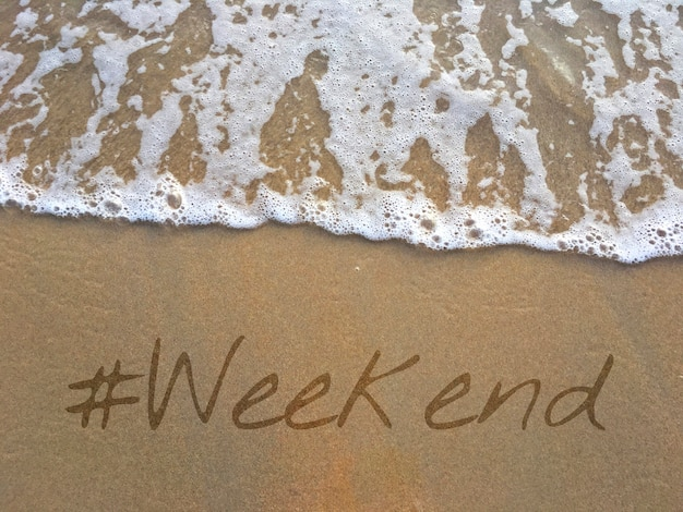 Palavra de fim de semana de férias de estilo de vida de vida