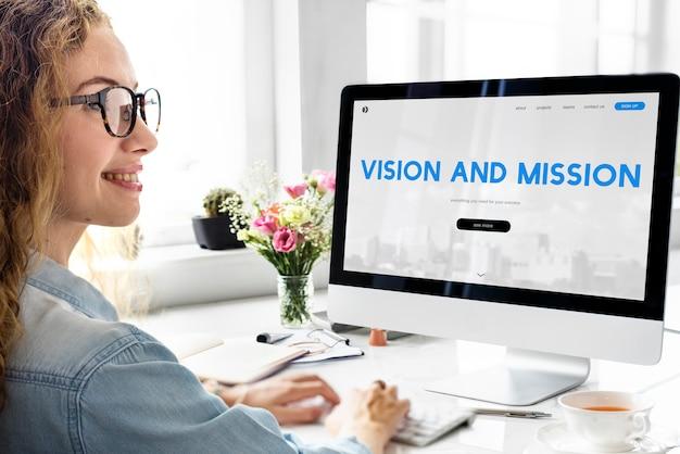 Palavra de inspiração de visão e missão
