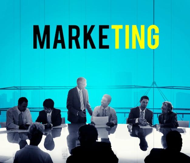 Palavra de plano de marketing de empreendedorismo de negócios