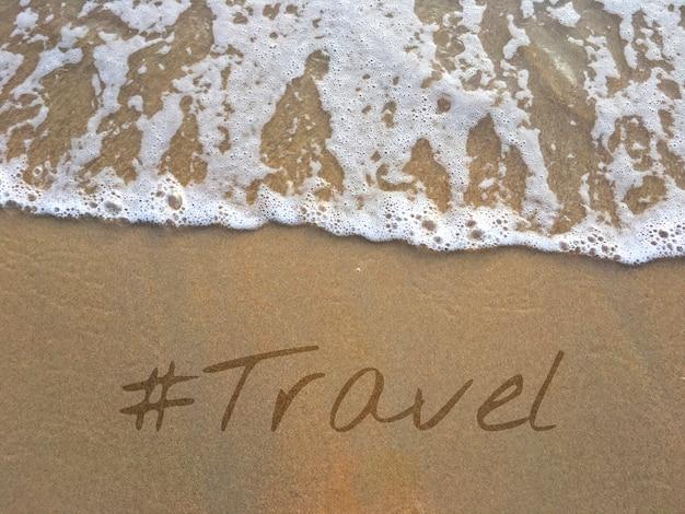 Palavra de viagem de turismo no tempo de recreação