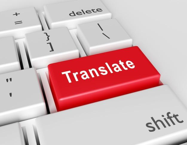 Palavra translita escrita em um teclado de computador