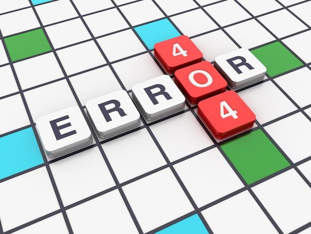 Palavras cruzadas erro 404