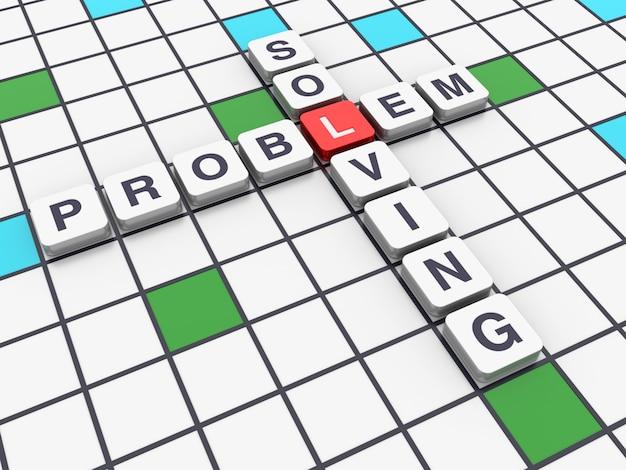 Palavras cruzadas solução de problemas