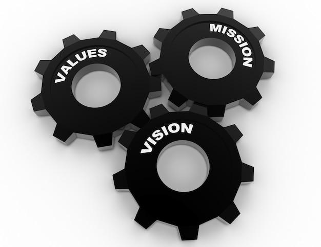 Palavras de conceito de riquezas culturais de negócios. ilustração 3d renderizada