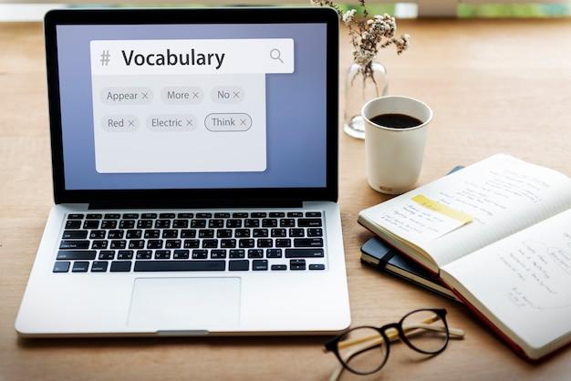 Palavras do vocabulário aprendizagem e explicação do estudo