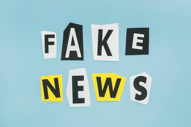 Palavras falsas de notícias em vários estilos de fonte de letra
